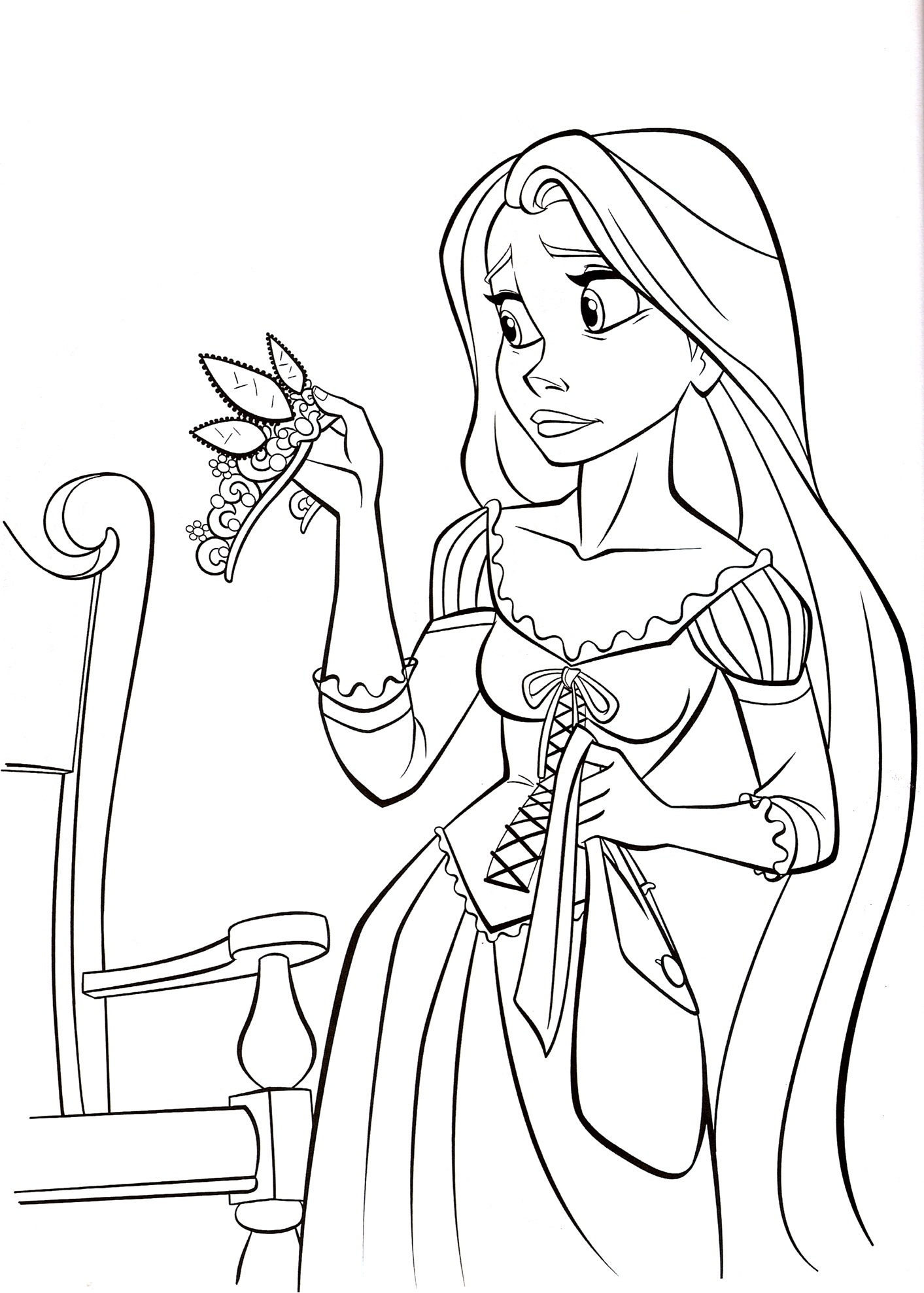 Free printable tangled coloring pages for kids - Disney coloring kids ...