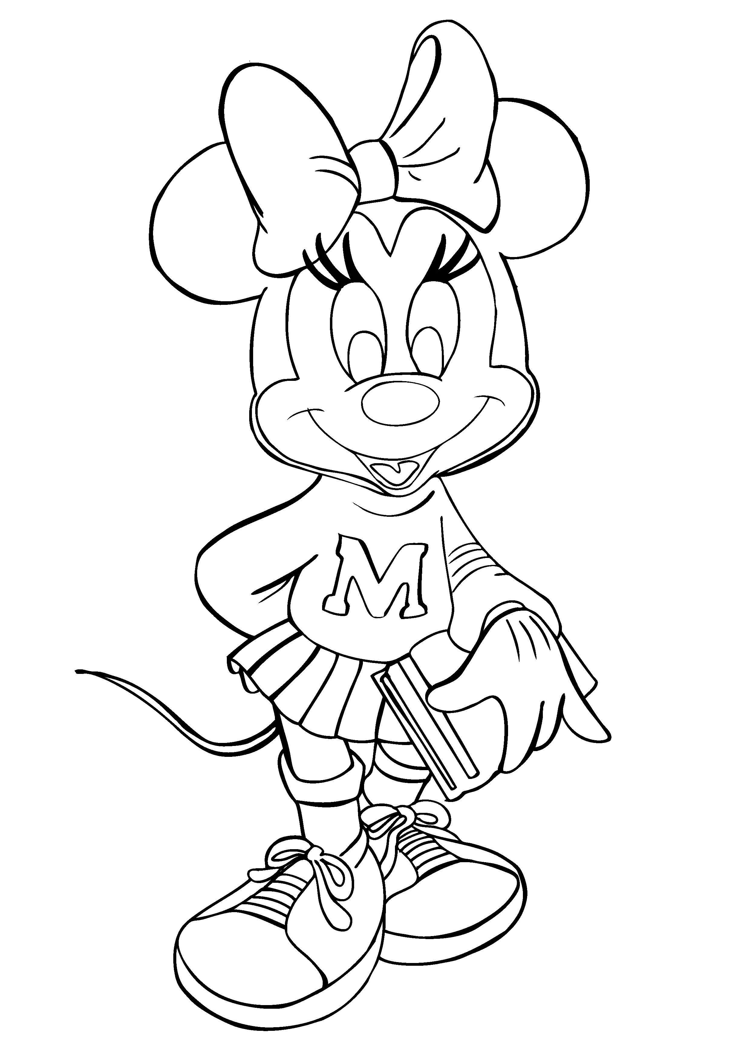 Free printable minnie mouse coloring pages for kids for Coloring pages toddler