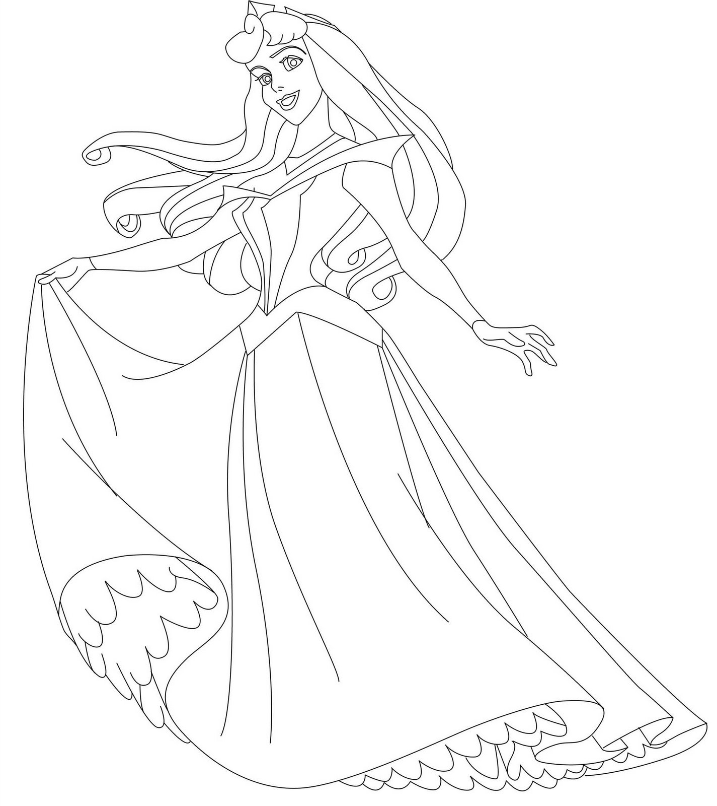 Princess Aurora Coloring Page Stunning Sleeping Beauty Fairies