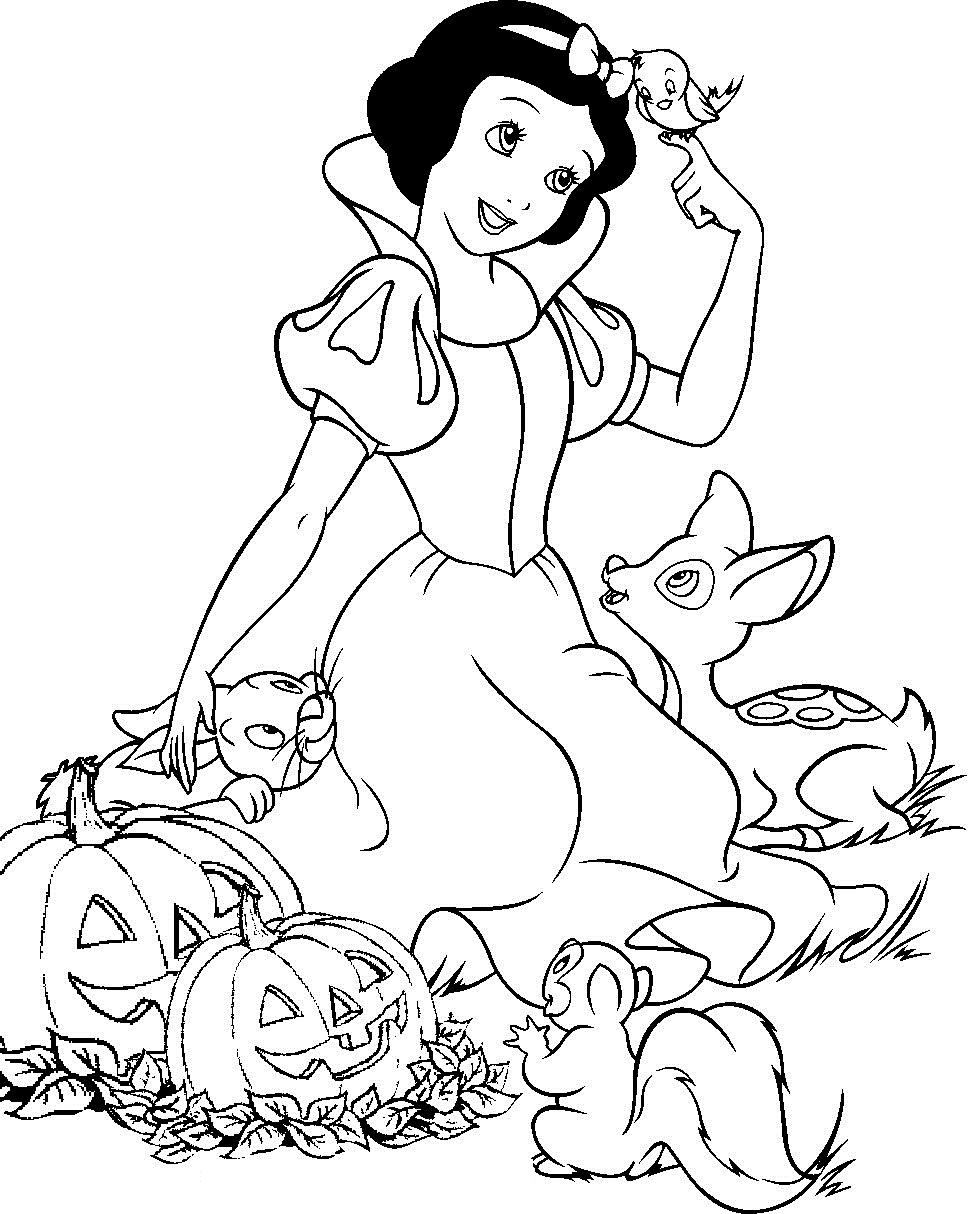 Free coloring pages to print and color - Disney Princess Coloring Pages For Kids Printable