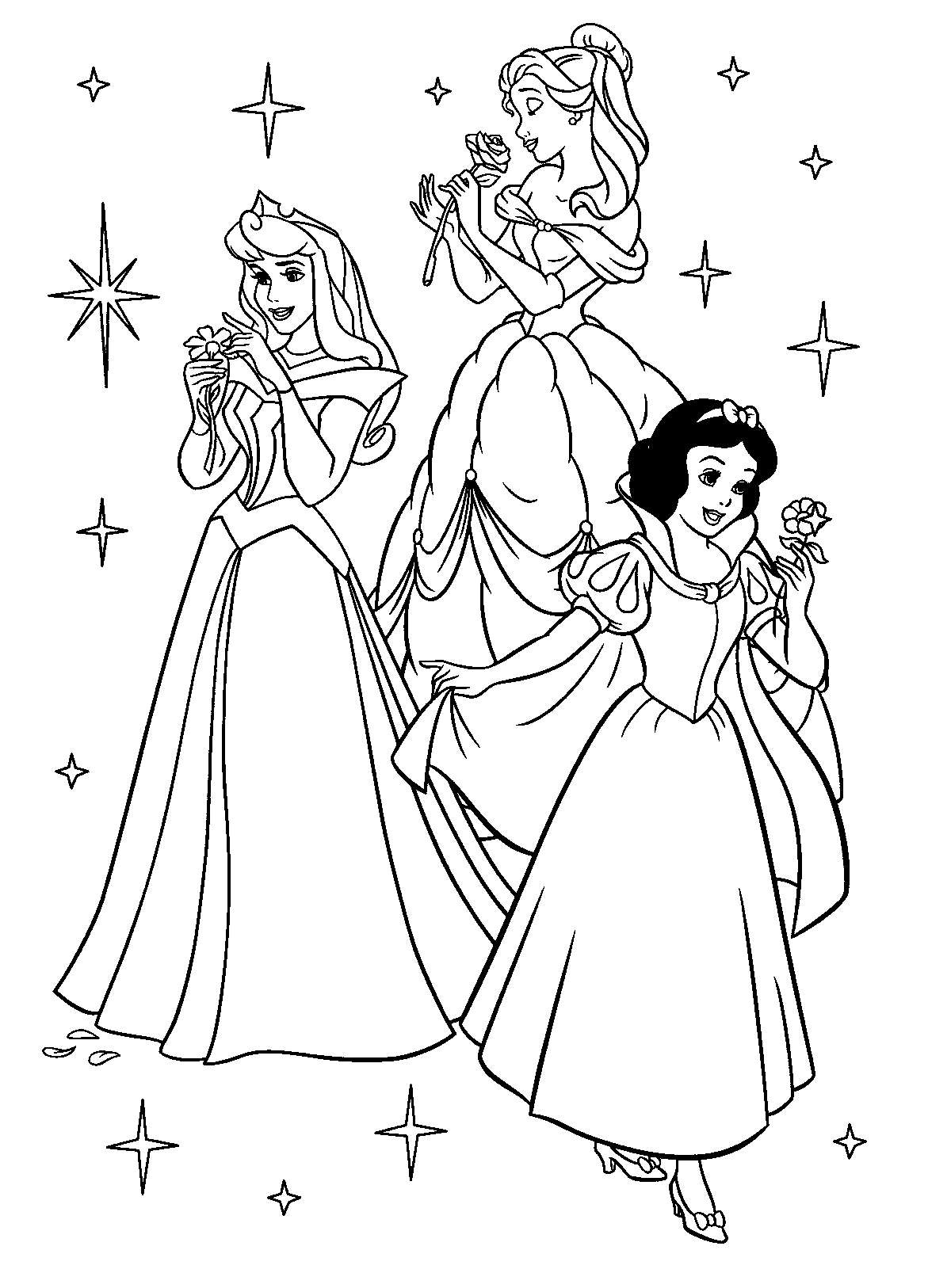 All princess coloring pages - Disney Princess Coloring Pages