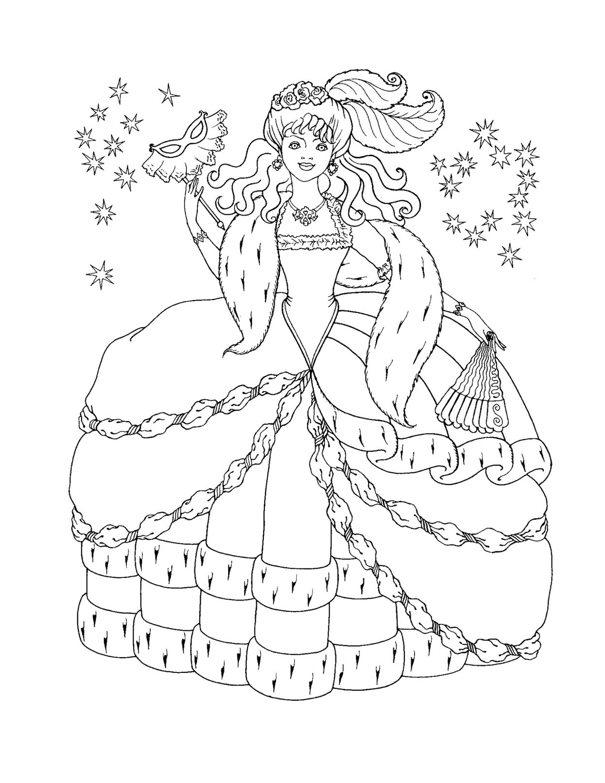 Free coloring pages princess