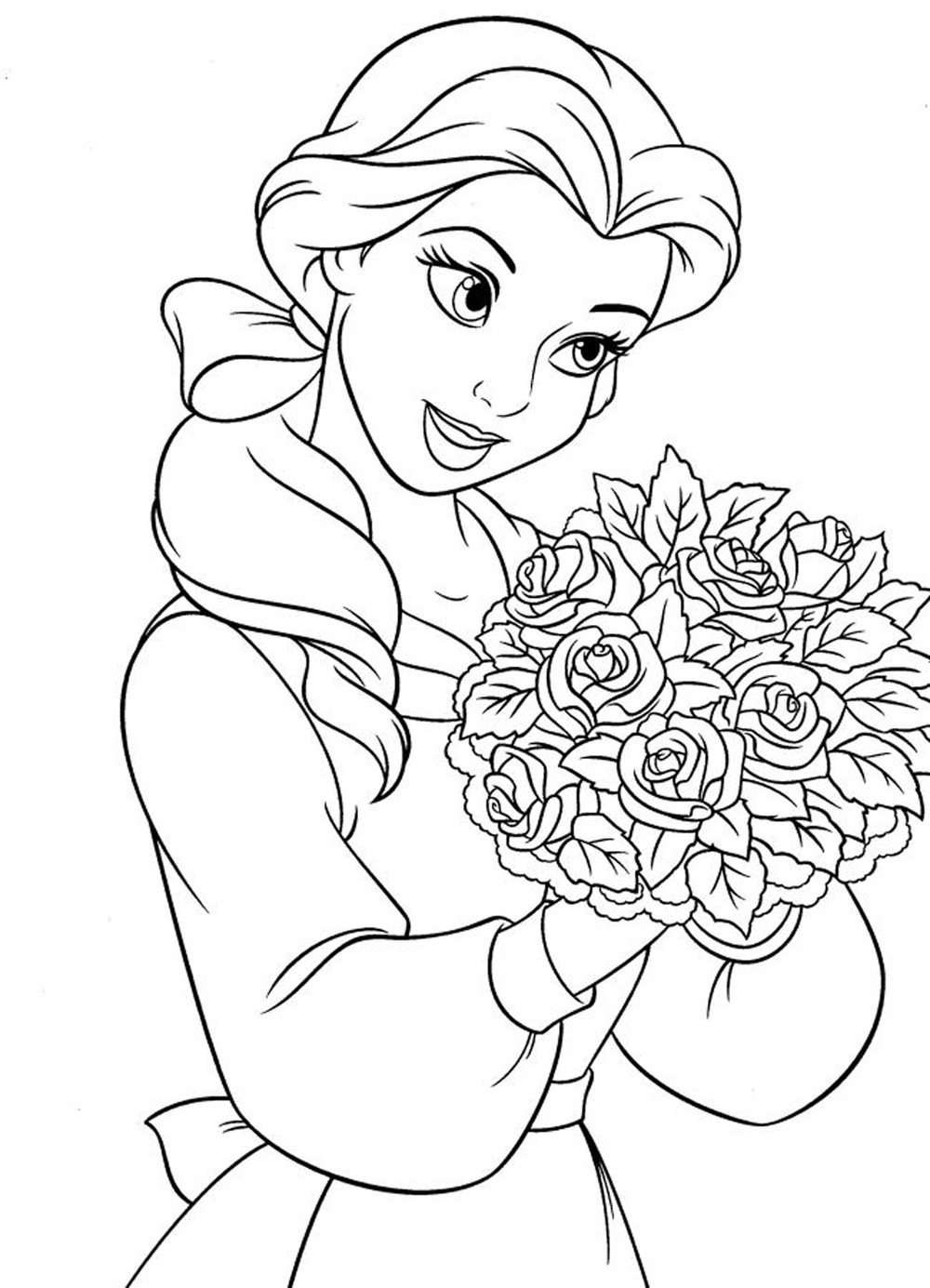Free coloring disney princess pages - Disney Princess Tiana Coloring Pages