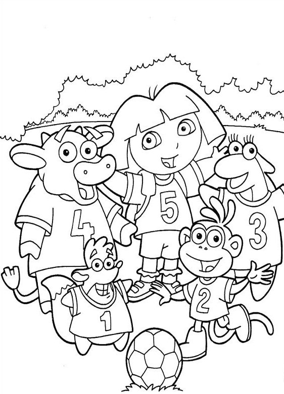 Dora The Explorer Coloring Pages Pictures