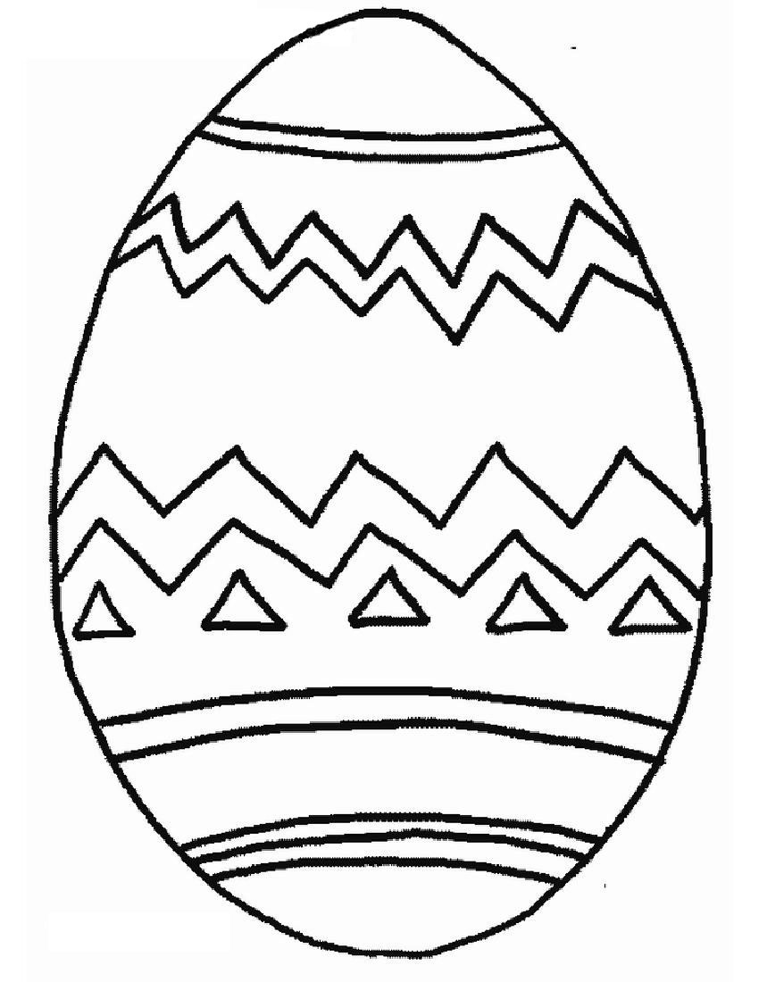Coloring pages easter eggs