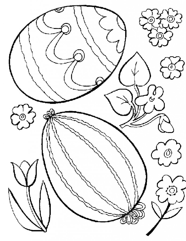 Easter Eggs Coloring Pages For Kids