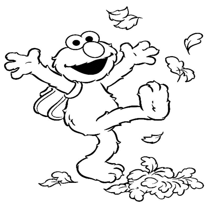 Coloring pages kids fall - Elmo Coloring Page