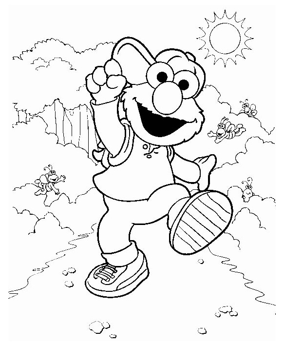 Elmo Coloring Pages For Kids Printable