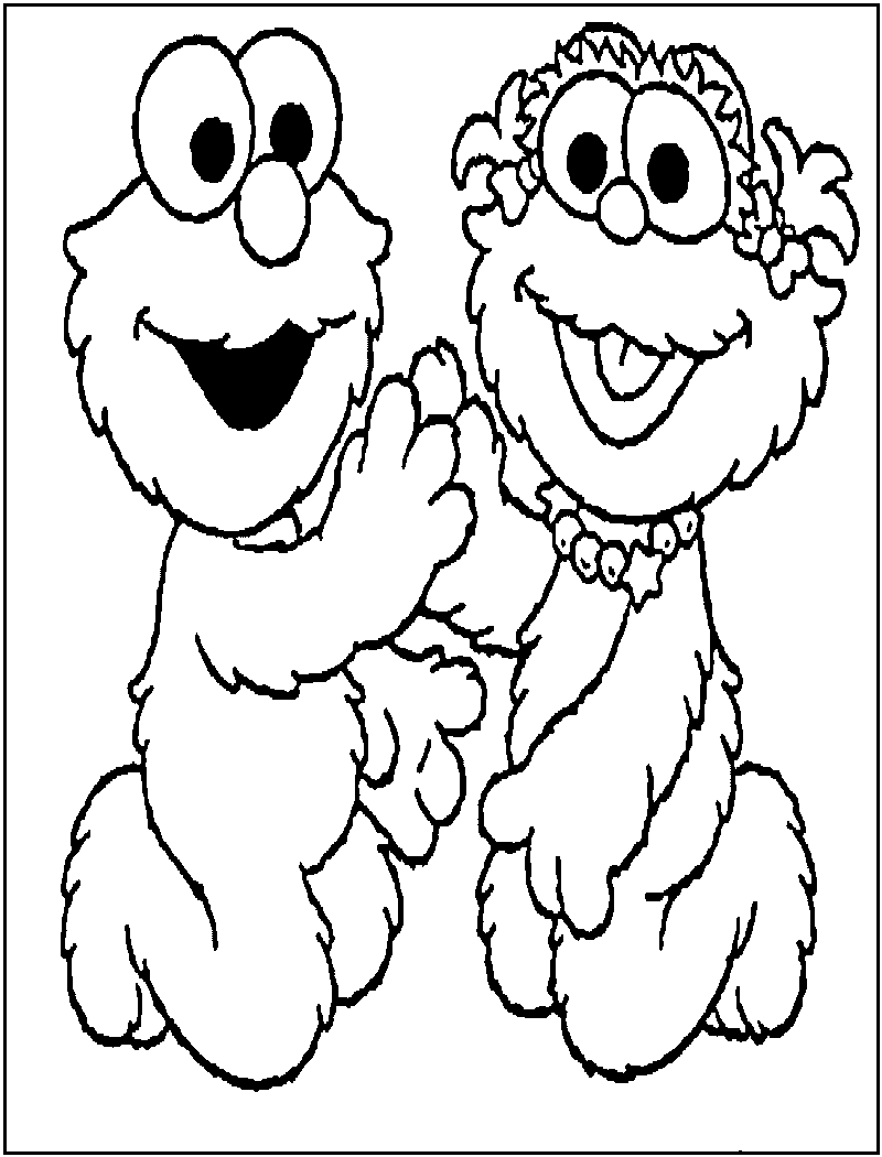 Free coloring pages elmo - Elmo Coloring Pages To Print