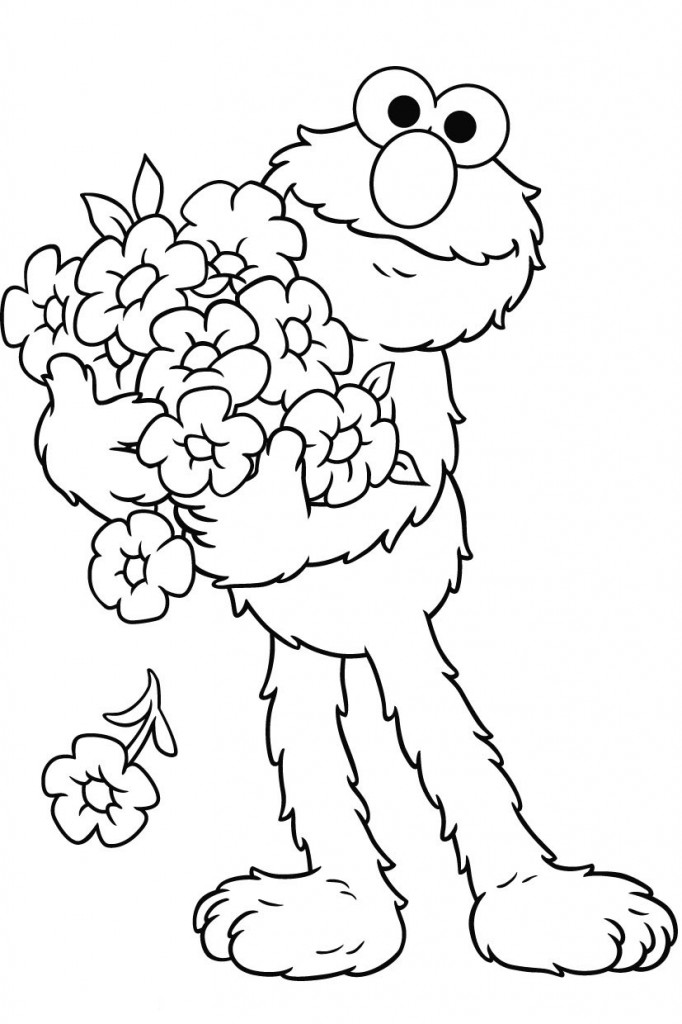 printable toddler coloring pages - free printable elmo coloring pages for kids