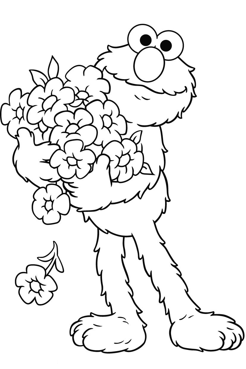 Coloring Pages For Kids Printable : Free printable elmo coloring pages for kids