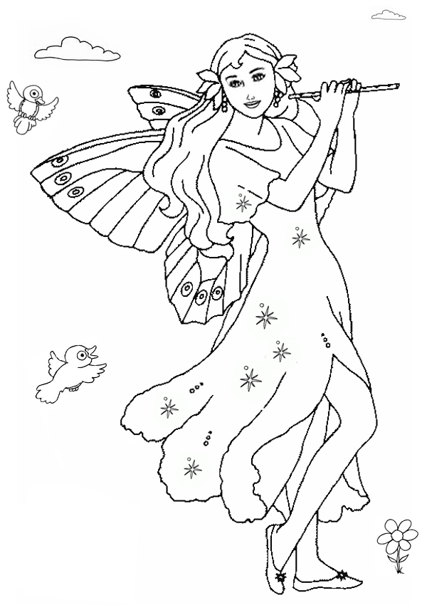 kids fairy coloring pages - photo#12