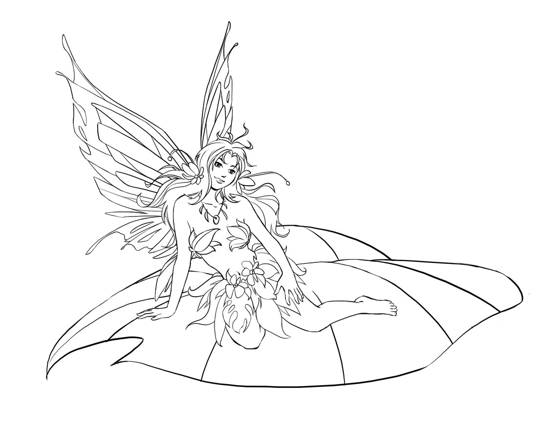 fairies coloring pages - Fairy Coloring Page