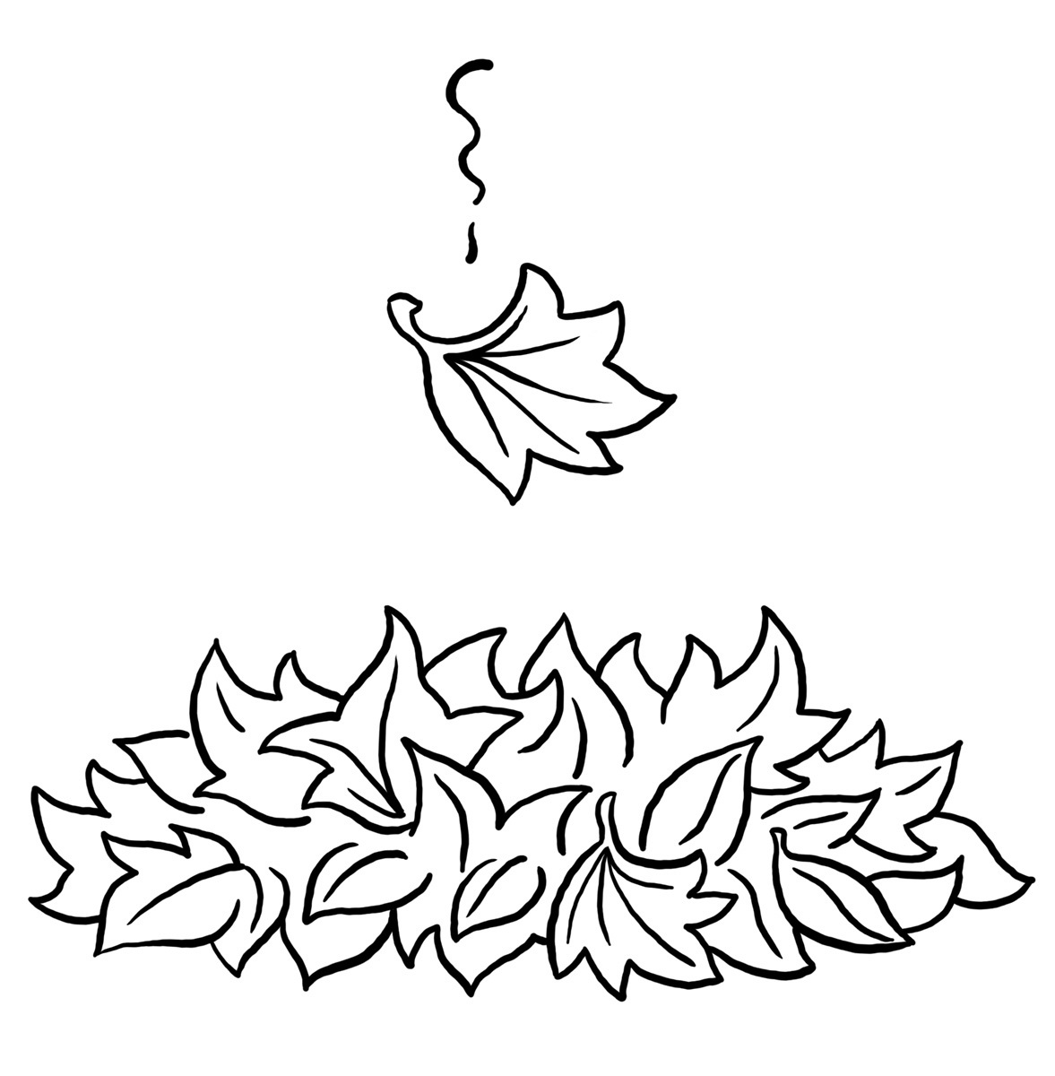Coloring pages leaves