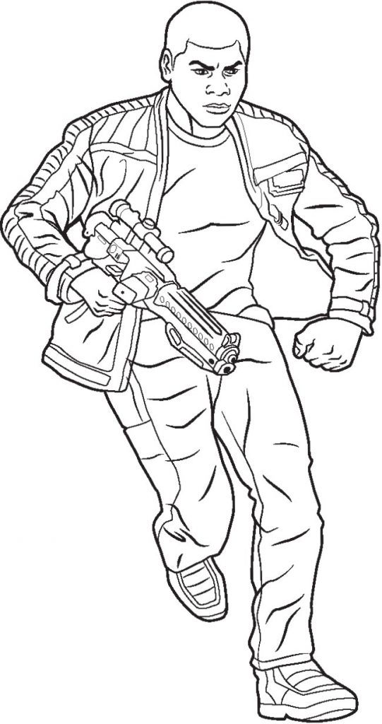 Finn Star Wars Coloring Pages