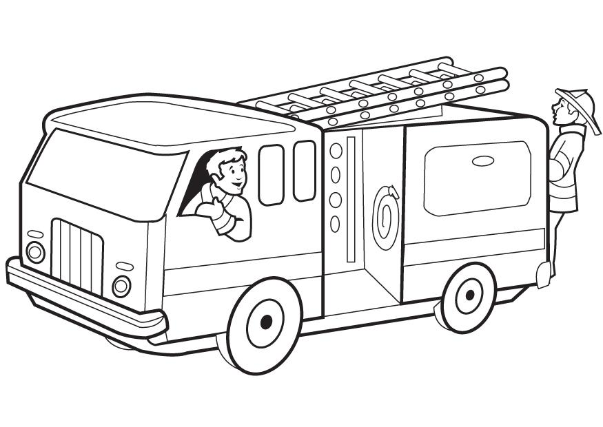 fire truck coloring pages firefighter - photo#9