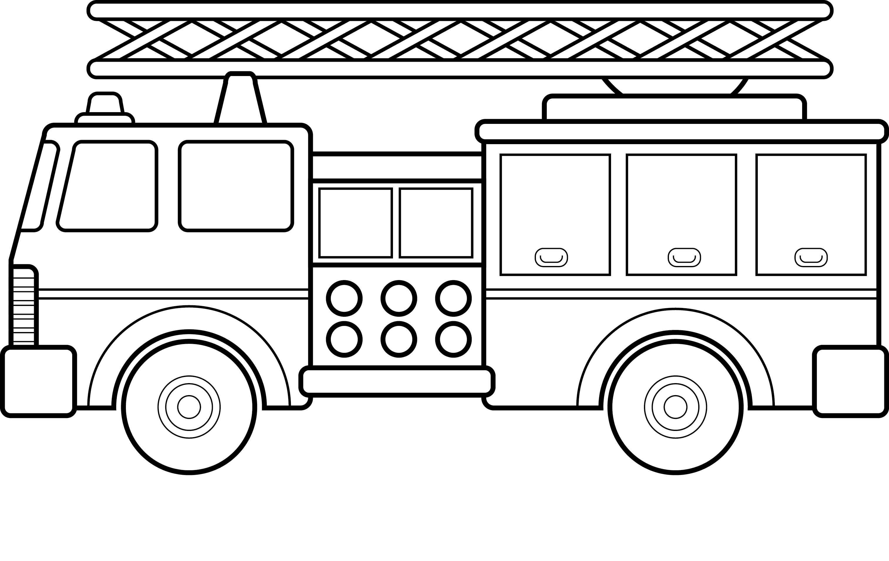fire truck coloring pages pictures - Simple Car Coloring Pages