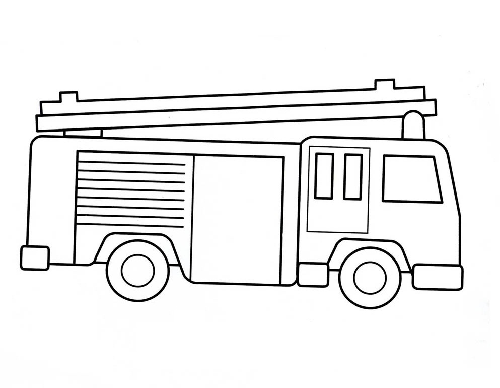 fire truck coloring pages firefighter - photo#1