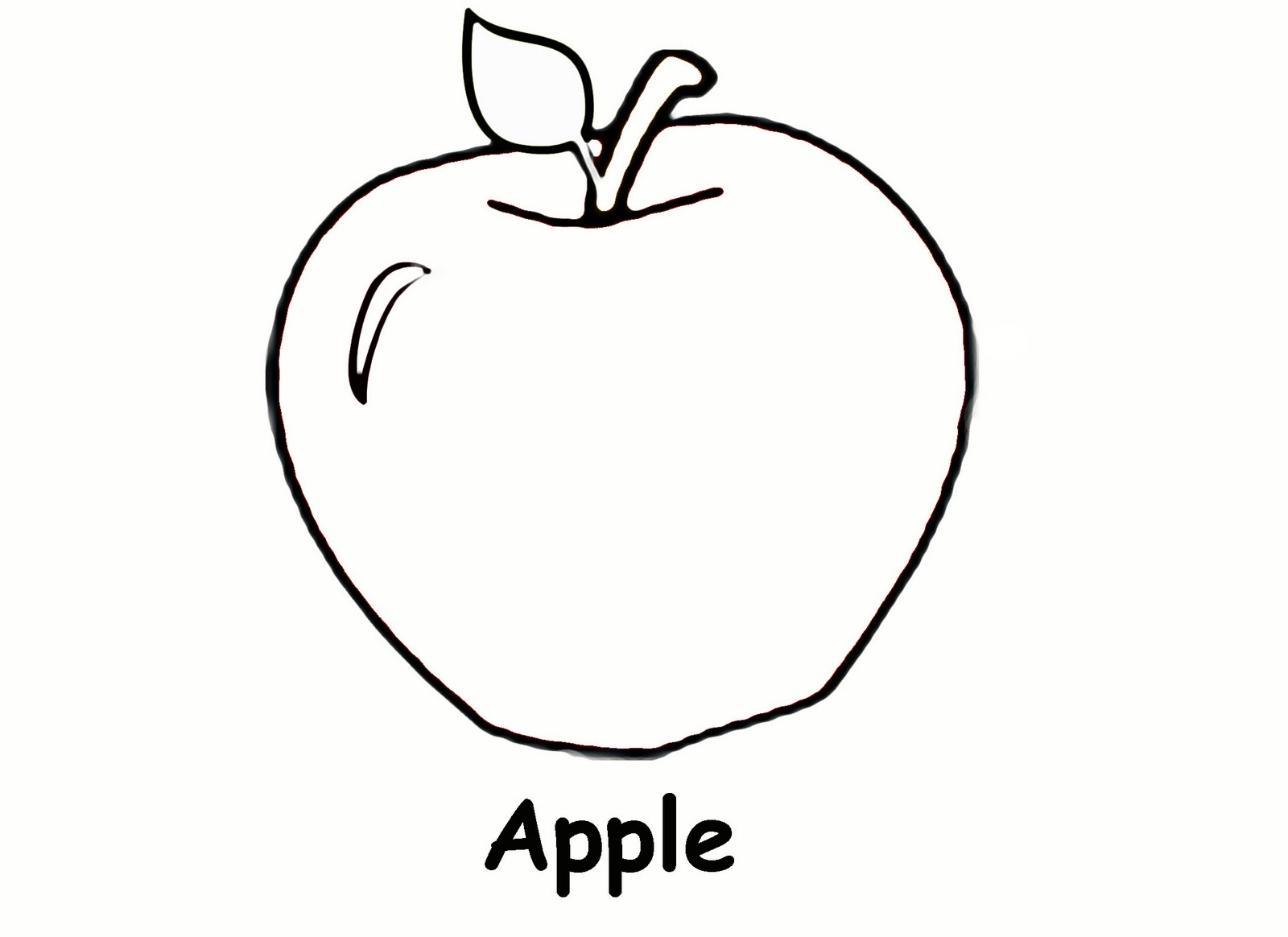 Free printable apple coloring pages for kids for Coloring pages toddler