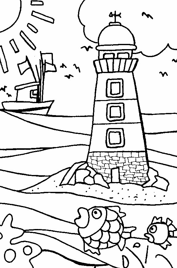 coloring pages and beach - photo#33
