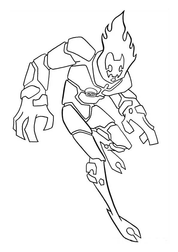 coloring pages ben 10 - photo#18