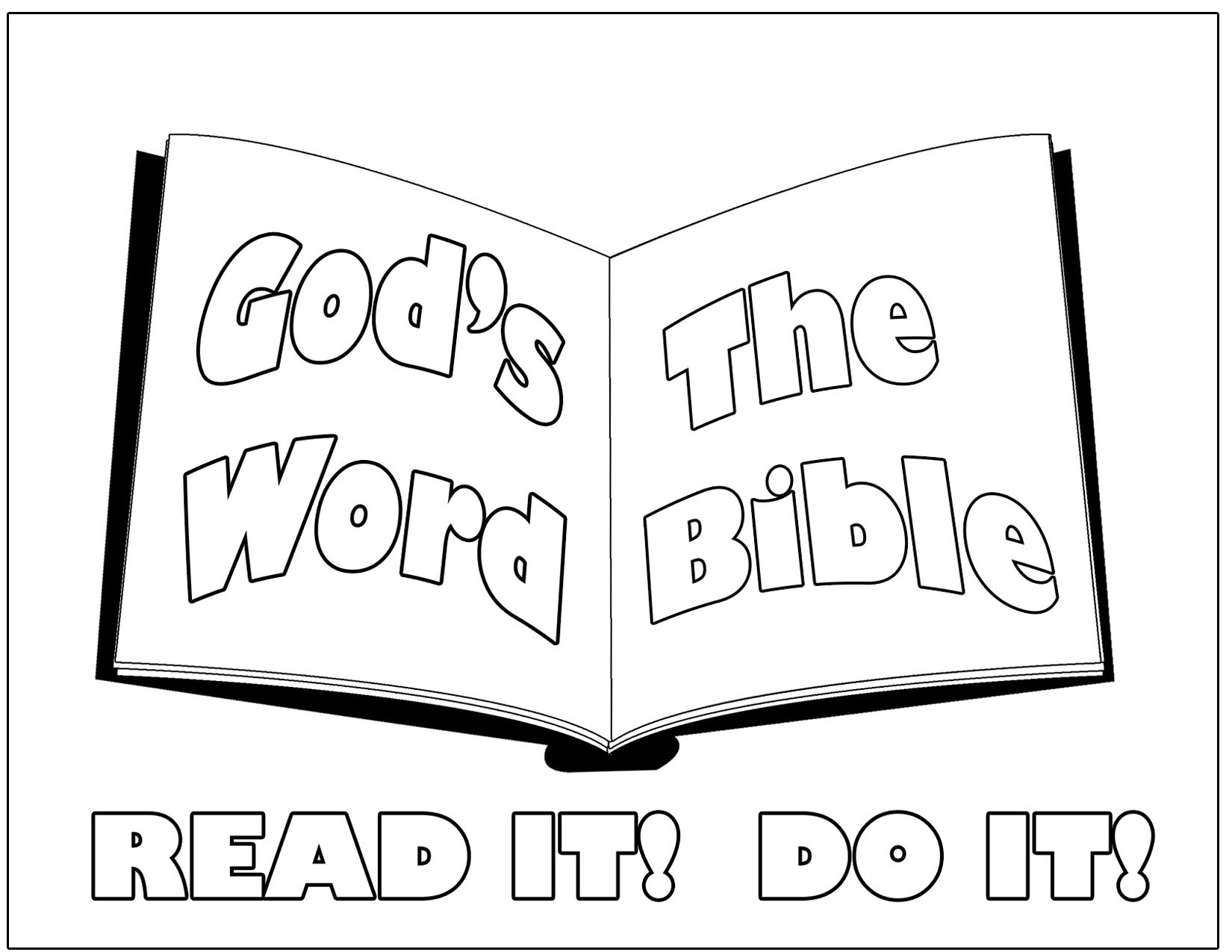 Free coloring pages for reading - Free Bible Coloring Pages