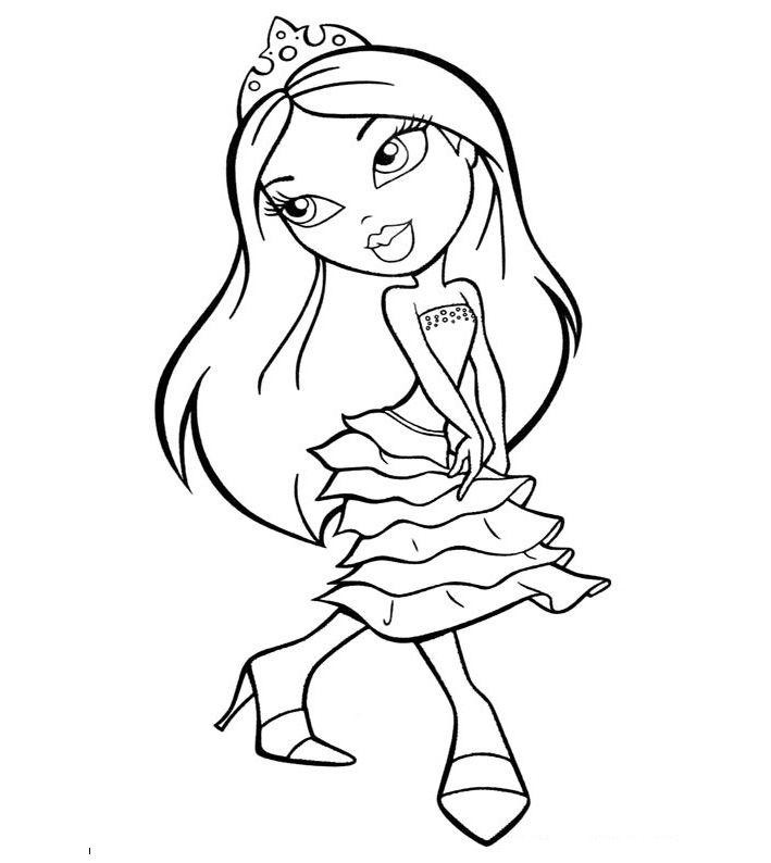printable bratz doll coloring pages - photo#5