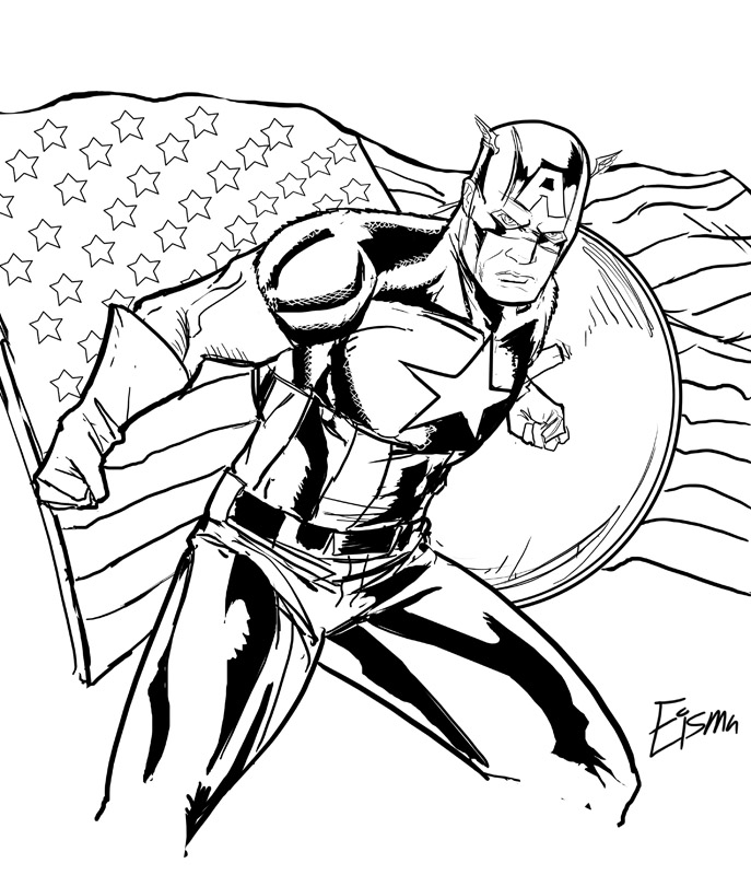Free Captain America Coloring Pages For Print
