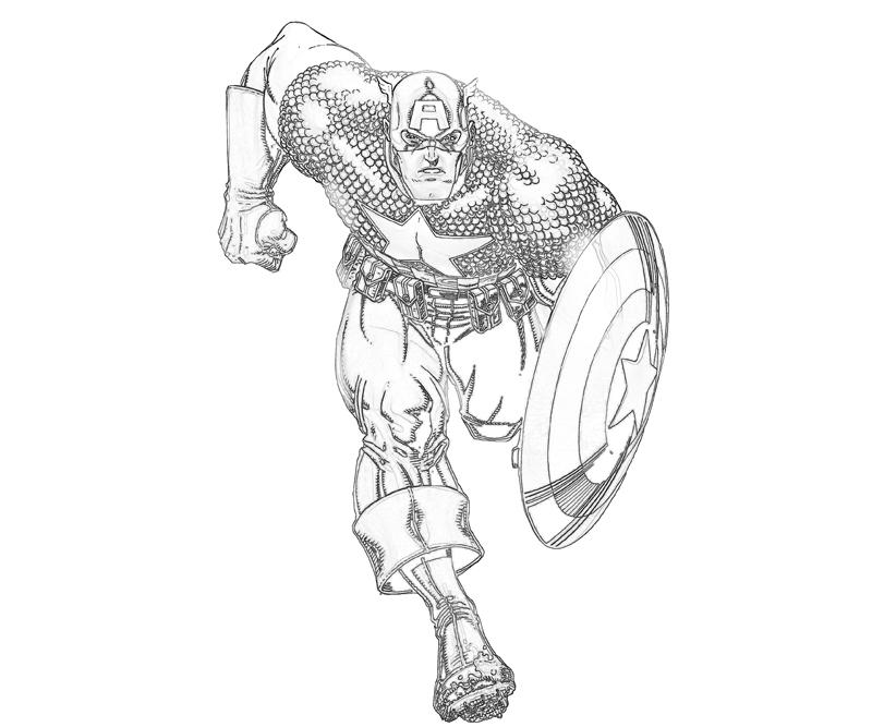 Free Captain America Coloring Pages