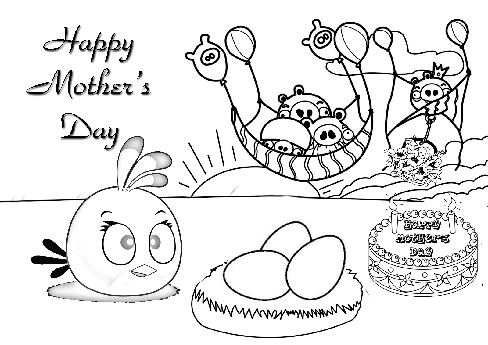 Coloring sheets for mothers day - Free Coloring Pages Mothers Day