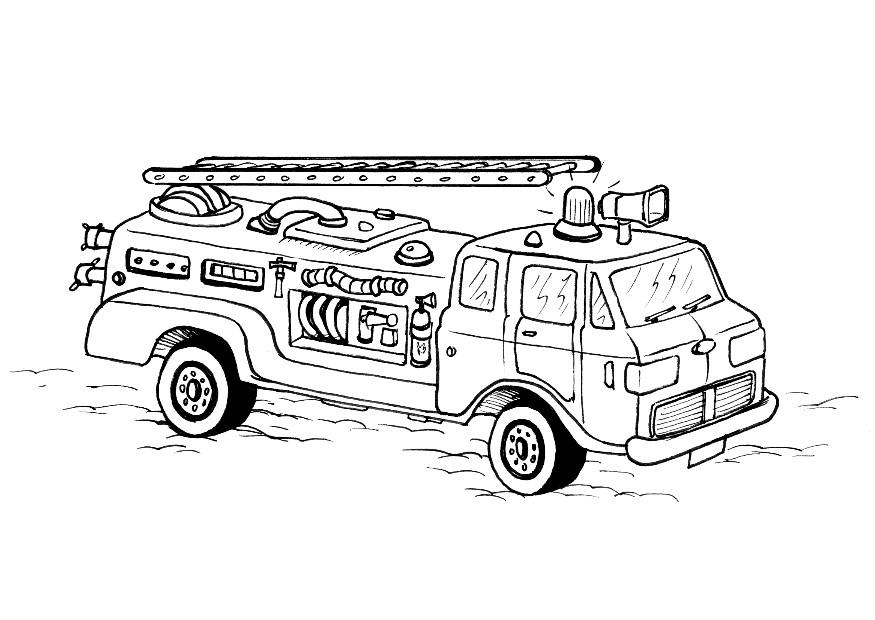 free coloring pages of fire trucks