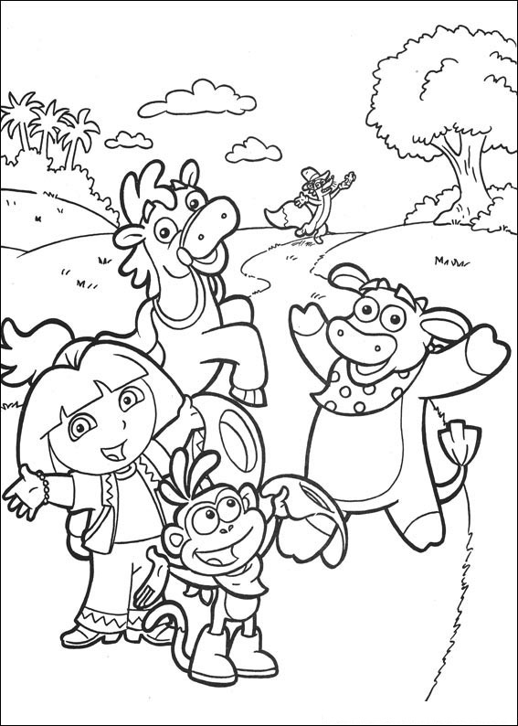 Free Dora The Explorer Coloring Pages