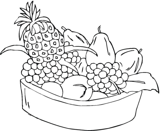 fruit coloring pages free - photo#12