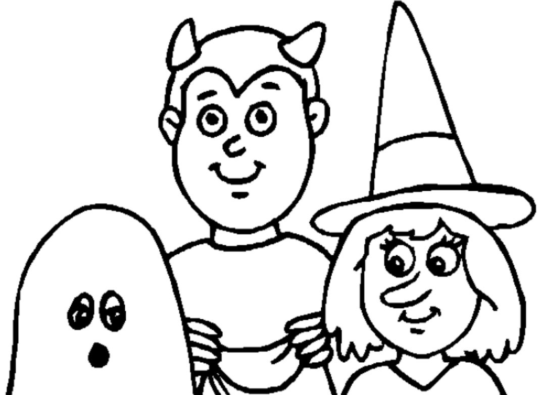 free halloween coloring pages - Coloring Pages Kids Halloween