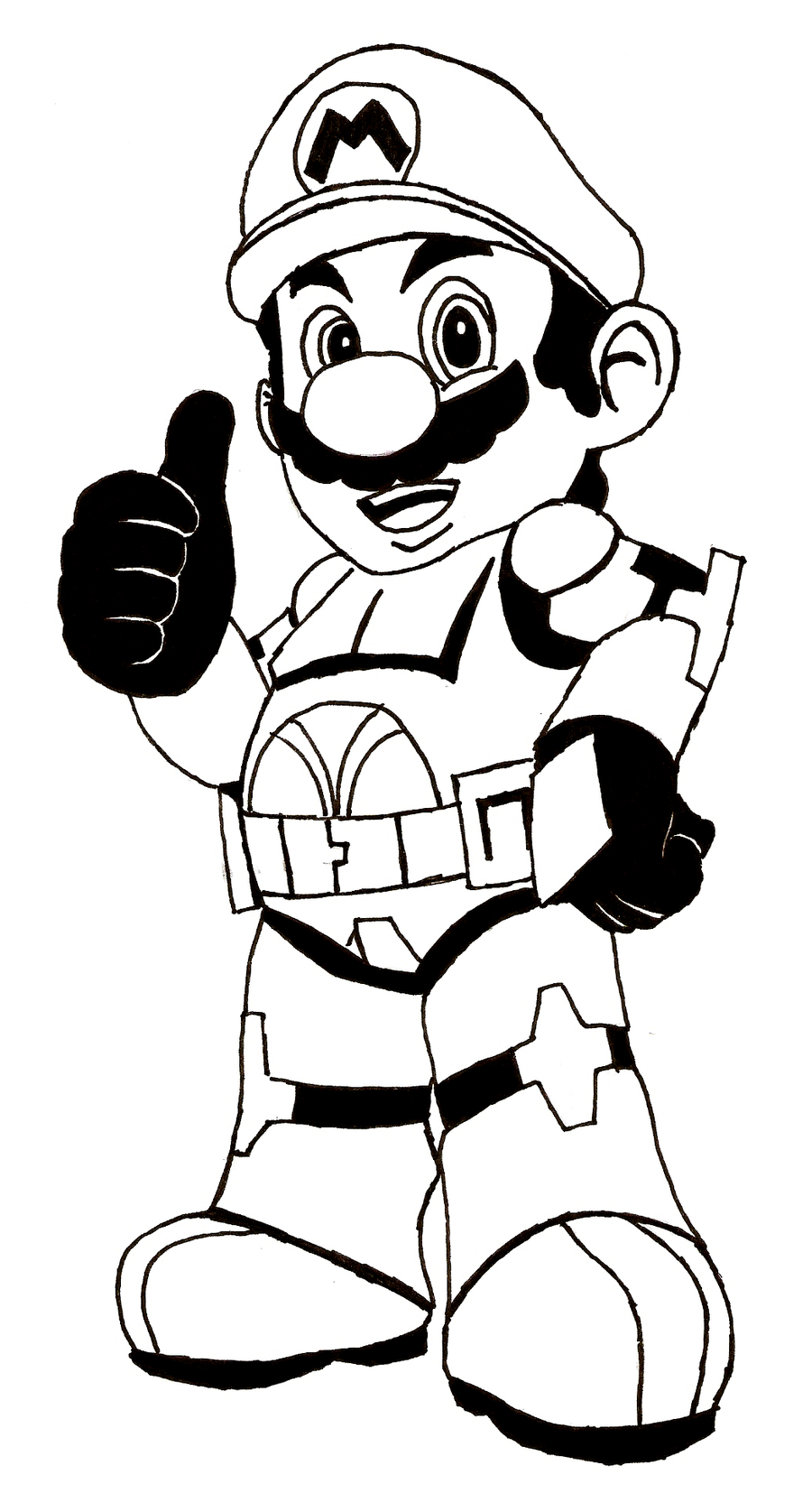 free mario coloring pages to print - Mario Coloring Page