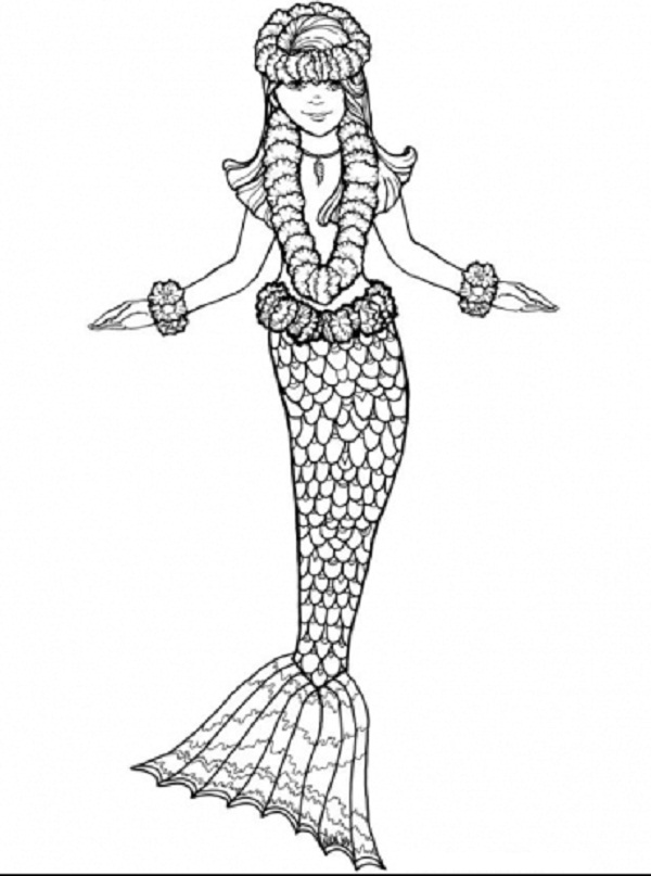 free online coloring pages mermaids - photo#33