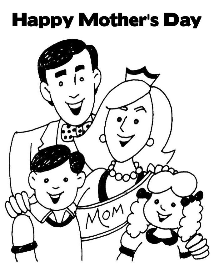 coloring pages mom and kids - photo#45