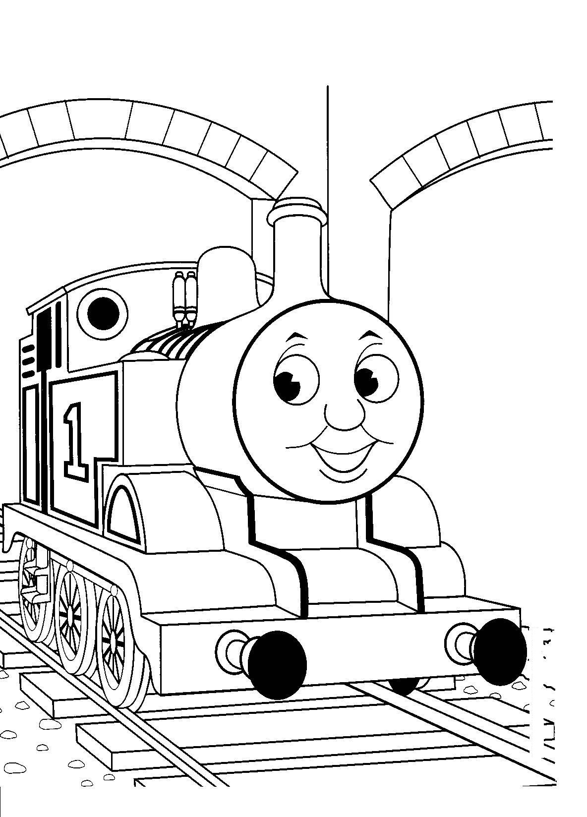 Coloring pages trains for kids - Free Printable Thomas The Train Coloring Pages