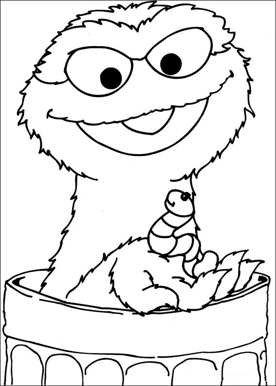seasme street coloring pages - photo#8