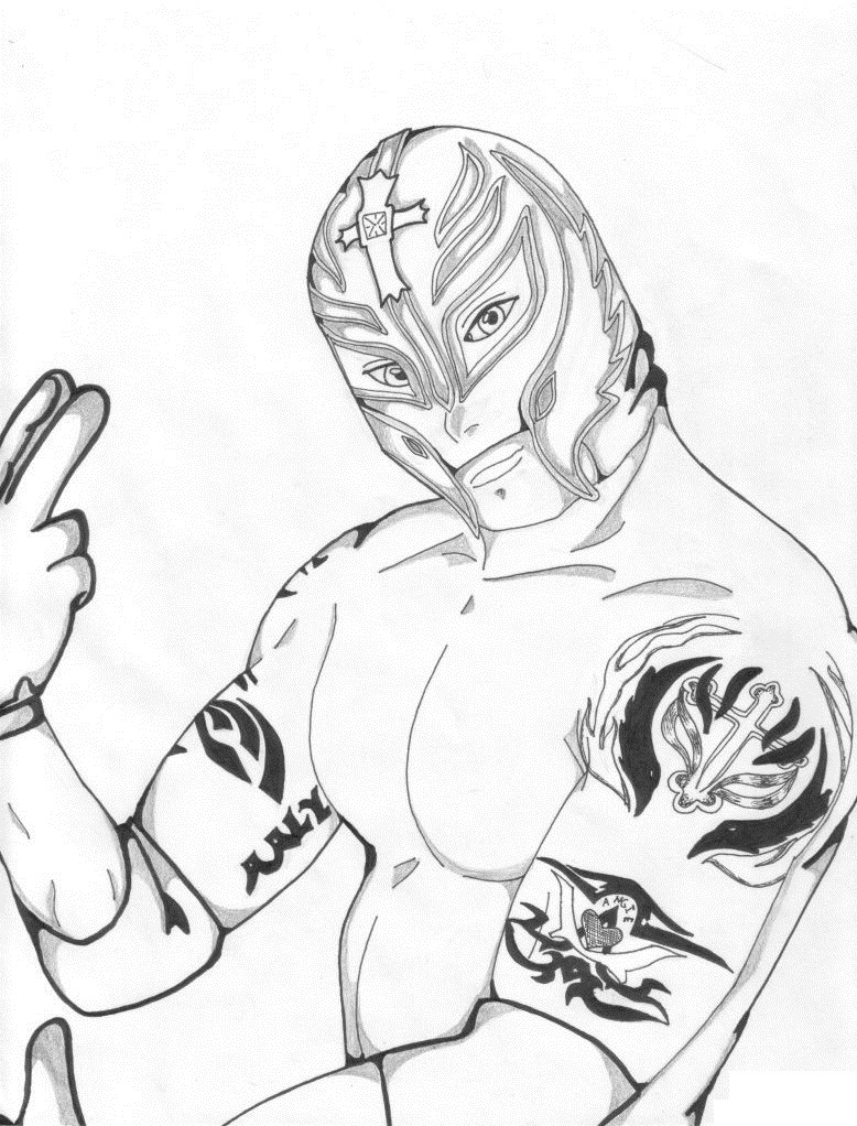 coloring pages wwe - photo#11