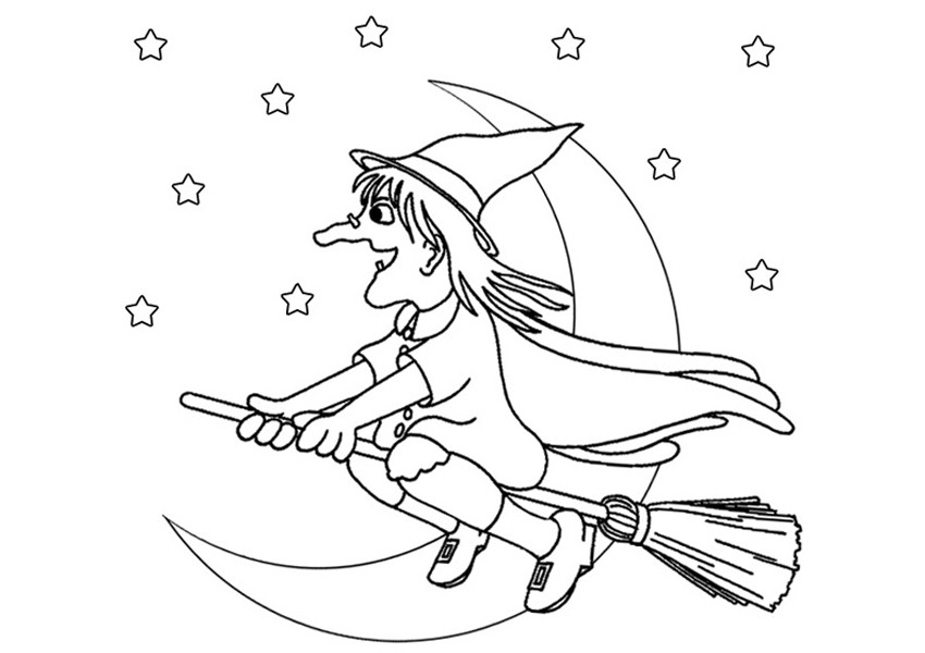 Free Witch Coloring Pages For Kids
