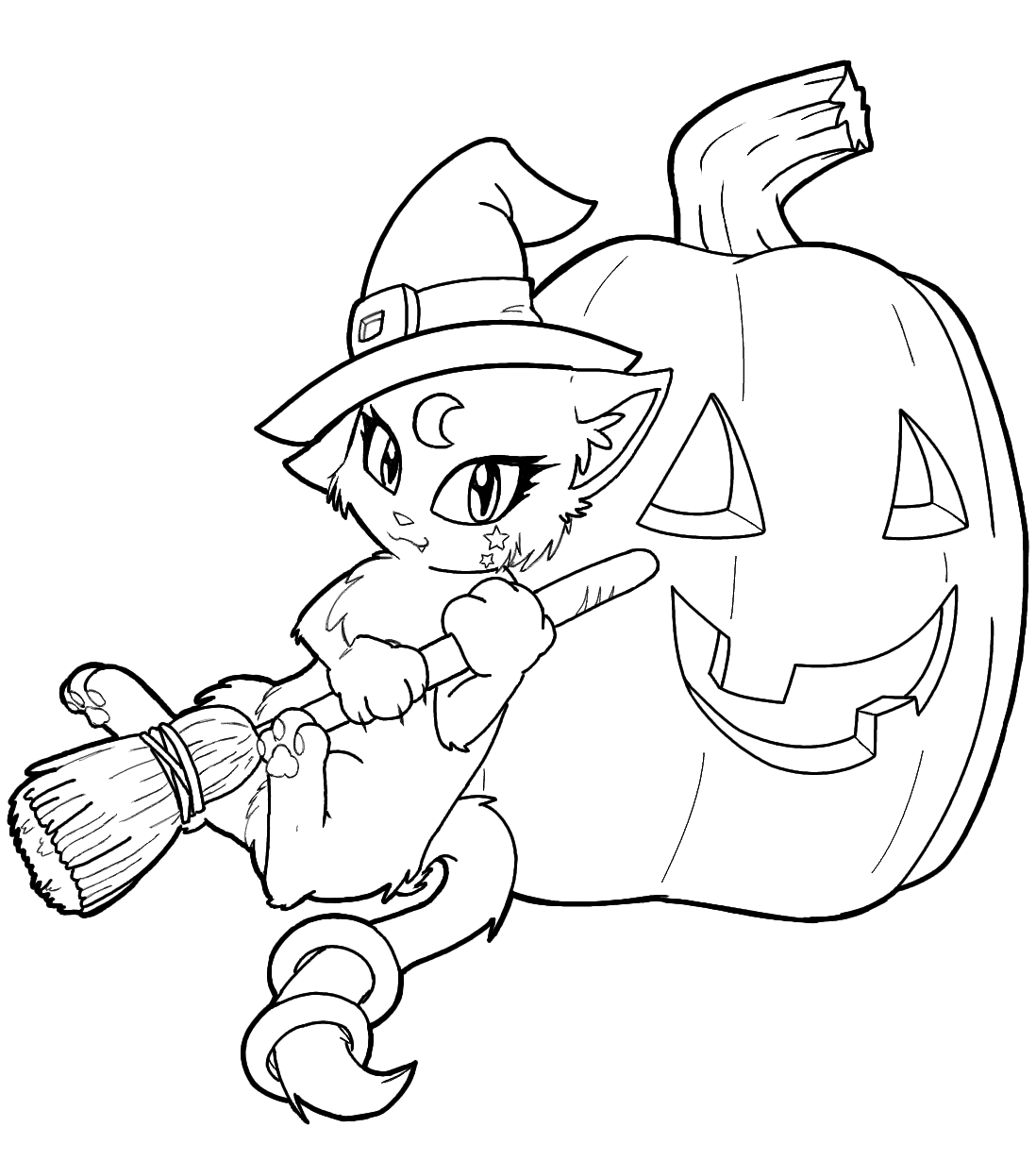 cute witch halloween coloring pages - photo#13