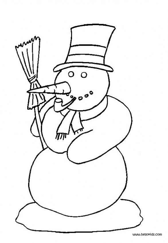 Free Printable Snowman Coloring Pages For Kids