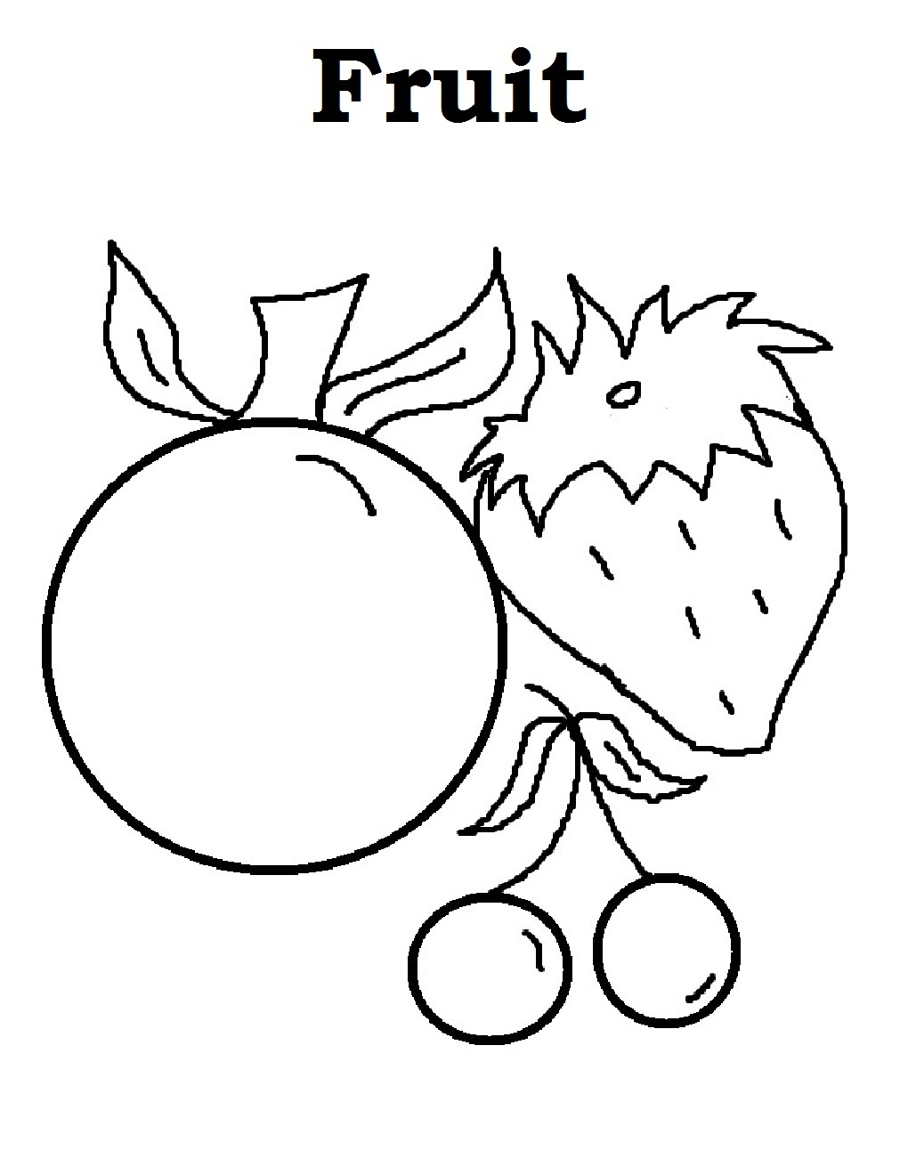 Free Printable Fruit Coloring Pages For Kids Fruits Coloring Pages