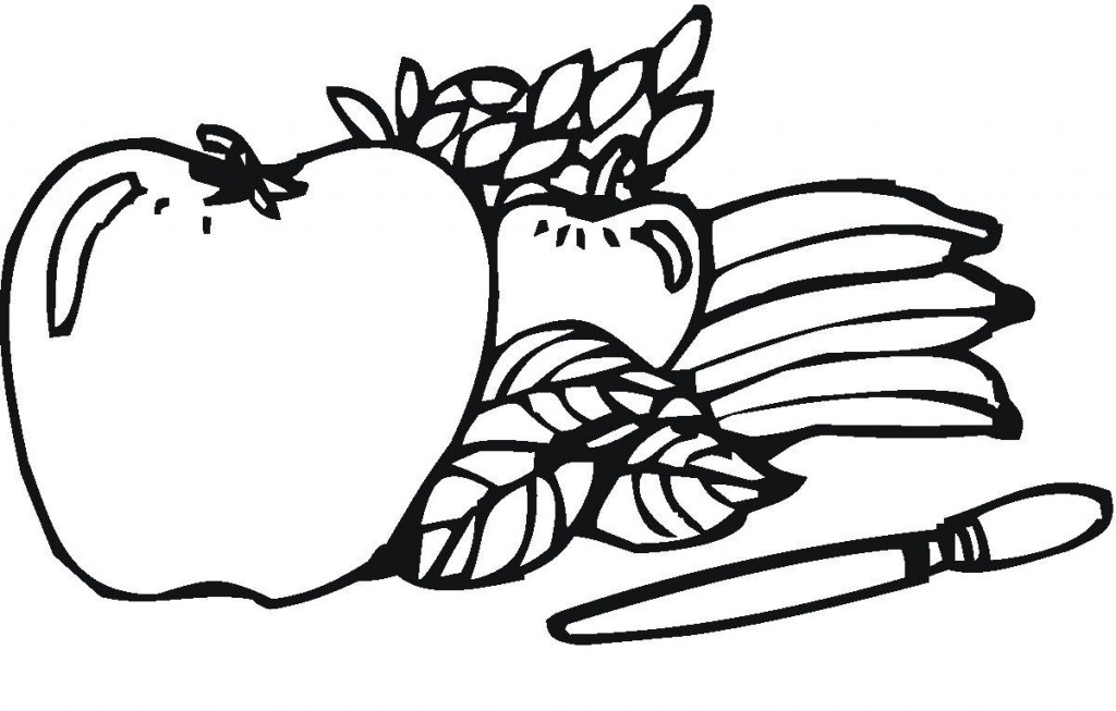 Fruits Picture Coloring Pages For Kids