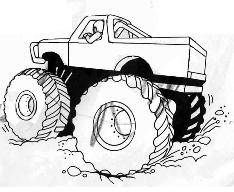 free printable monster truck coloring pages for kids - Monster Truck Coloring Pages Easy