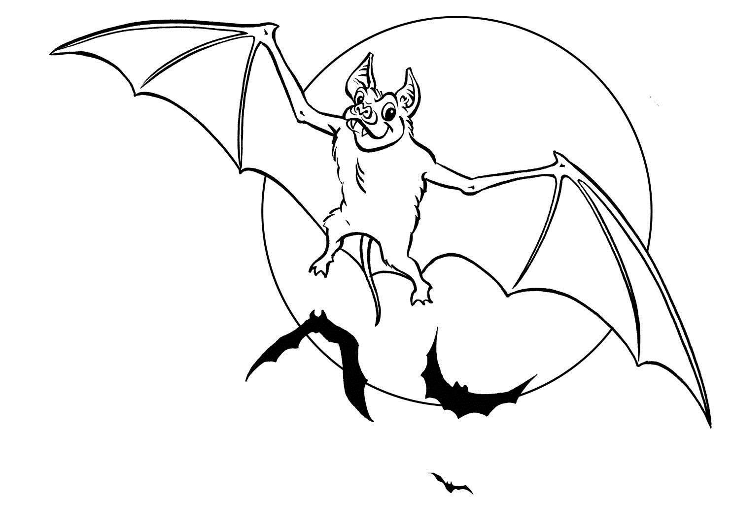 Free coloring pages for halloween - Halloween Bat Coloring Pages