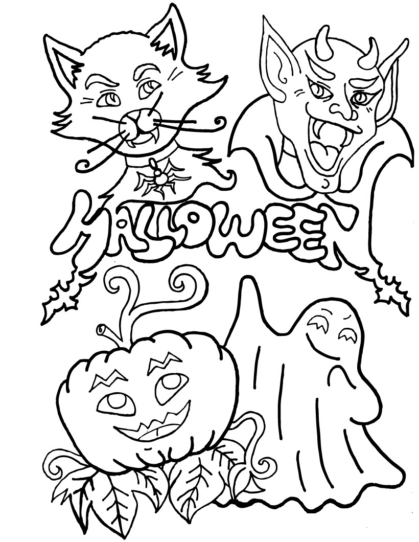 free coloring pages halloween - photo#38