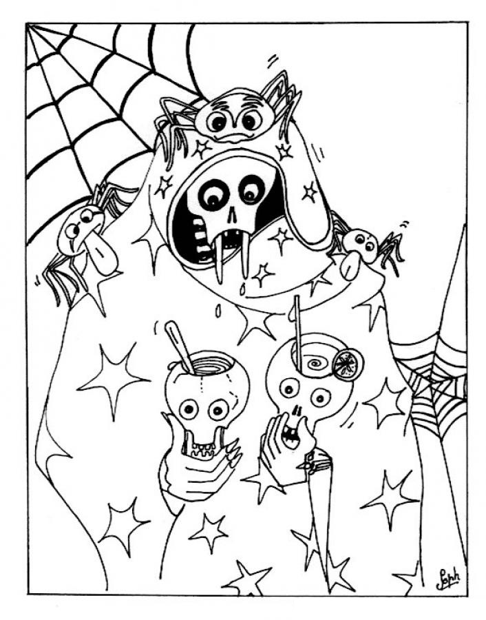 fun halloween coloring pages print - photo#32
