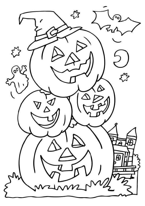 Halloween Coloring Pages For Kindergarten